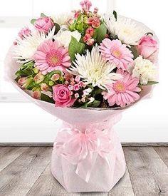 purple carnations gergera arrangrment - Google Search