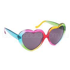 Rainbow Heart Shape Sunglasses