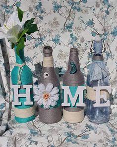 bouteilles decoratives #winebottleart #winebottledecor #diy #handmade #madeinhaiti #gift #giftideas #homedecor #decorativebottles #diy #craft #laduchessecollections Bottle, Craft, Diy, Home Decor, Decorative Bottles, Decoration Home, Creative Crafts, Bricolage, Room Decor
