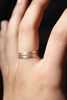SALE - Sterling silver stacking rings set of 5. $24.00, via Etsy.