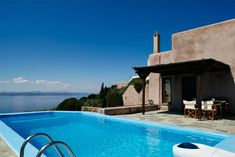 Dancing Pool - Stylish residence with private pool and stunning sea view - Kea Private Pool, Greek Islands, Swimming Pools, Greece, Park, Summer Houses, Outdoor Decor, Home Decor, Greek Isles