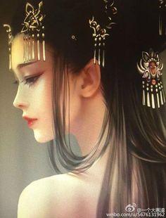 Ảnh đẹp, Hài - 1: girl - Wattpad Art Anime, Anime Art Girl, Chinese Drawings, Ancient Beauty, Beautiful Fantasy Art, China Art, Digital Art Girl, Fantasy Girl, Art World
