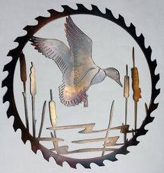 Metal Art Duck by MTechDesign on Etsy http://www.luckygroup.com/