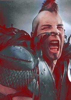 Look post apocalyptic mad max 2 road warrior Mad Max Road, Mad Max 2, Movie Gifs, I Movie, Warrior Images, Westerns, The Road Warriors, Apocalyptic Fashion, Post Apocalypse