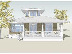Beach Home Plan, 052H-0039. Coastal home plan. don't like the floor plan but do like the exterior. one bed and sitting up. could be changed for passive solar.