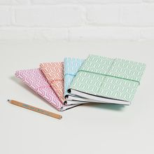 Our beautiful and practical notebooks are made from recycled materials. Finished with a textured look (a bit like leather) they are eco and animal friendly. All of our beautiful rich prints and patterns are hand-screen printed using eco-friendly dyes. Notebooks, Journals, Home Office Accessories, A5 Notebook, Office Stationery, Small Storage, Recycled Materials, Dyes, Print Patterns