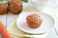 Quinoa Carrot Muffins:  ½ cups Whole Wheat Flour, ½ cups Cooked Quinoa, ⅓ cups Sugar, 1 teaspoon Cinnamon, ¼ teaspoons Nutmeg, 1 teaspoon Baking Powder, ½ cups Fat Free Sour Cream, ¼ cups Unsweetened Applesauce, 2 Tablespoons Raw Honey, 1 whole Large Egg, 1 teaspoon Vanilla Extract, ¾ cups Carrots, Peeled And Finely Grated, ¼ cups Rasins, 2 Tablespoons Chopped Walnuts
