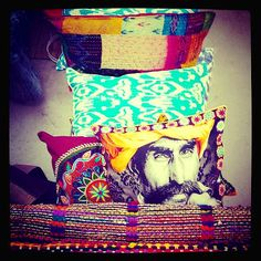 ♥ PILLOW TALK ♥ With love from India New arrivals funky bohemian pillows and rugs for an eclectic lifestyle interior