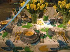 Macy's Flower Show tablescape