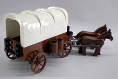 Covered wagon with instructions.