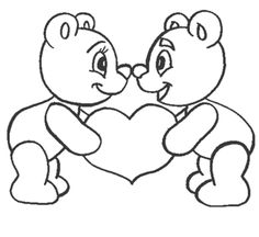 Love Bear Coloring Pages- You are in the right pla - Saint Valentin Love Coloring Pages, Valentine Coloring Pages, Free Printable Coloring Pages, Coloring Sheets, Coloring Pages For Kids, Coloring Books, Free Coloring, Coloring Worksheets, Saint Valentine