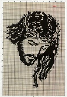 images about Cross Stitch Simple Cross Stitch, Cross Stitch Charts, Cross Stitch Designs, Cross Stitching, Cross Stitch Embroidery, Embroidery Patterns, Religious Cross Stitch Patterns, Crochet Diagram, Needlework