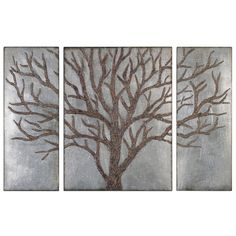 Silver and Bronzed Tree of Life Wall Art - rustic retreat