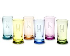 what i wish i drank out of: DuraClear® Large Tumblers, Set of 6, Multi Color