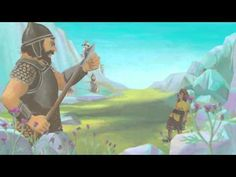 Video over David en Goliath Bible Songs, Bible Stories For Kids, David And Goliath, Object Lessons, Bible Crafts, Music For Kids, Sunday School, History, Fictional Characters