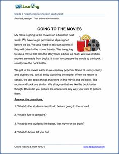 Free printable Reading Comprehension worksheets for grade These reading worksheets will help 3rd Grade Reading Comprehension Worksheets, Comprehension Exercises, Worksheets For Grade 3, Reading Comprehension Passages, Third Grade Reading, Second Grade, Fourth Grade, English Reading, Reading Skills