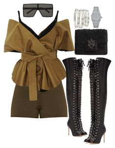 """""""Friday Night Lights ⚡️"""" by jvazquezstyles on Polyvore featuring Acler, Gianvito Rossi, Yves Saint Laurent, Alexander McQueen, Cartier and Audemars Piguet"""