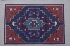 Indian Traditional Cotton Dhurrie Rug - 4x6, Bohemian Rug, Tribal Rug, Navajo Rug, Southwestern Rug, Kilim Rug, Moroccan CD-110