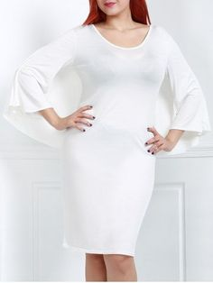 GET $50 NOW | Join RoseGal: Get YOUR $50 NOW!http://m.rosegal.com/plus-size-dresses/sexy-white-v-neck-3-220036.html?seid=g0tvkhduta09b0ciot4cebleg0rg220036