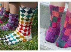 Entrelac Socks Free Knitting Pattern Sweater Knitting Patterns, Free Knitting, Baby Knitting, Crochet Patterns, Crochet Stars, Crochet Baby, Knit Crochet, Knitted Baby Cardigan, Free Pattern