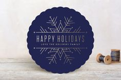 Chic Snowflake by Pistols at minted.com