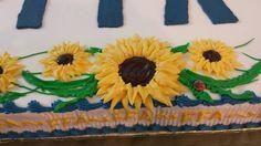 Sunflowers on cake