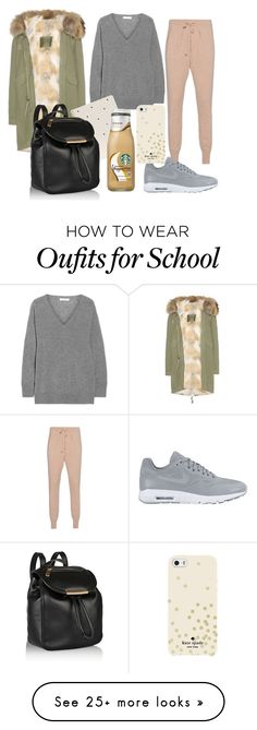 """""""not in the mood for school"""" by marija-colic7 on Polyvore featuring mode, Equipment, Mr & Mrs Italy, Sugar Paper, NIKE, Marc by Marc Jacobs et Kate Spade"""