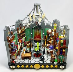 A Passion For Potions : lego Lego Chevalier, Lego Haunted House, Lego Knights Kingdom, Lego Halloween, Halloween Ideas, Lego Minifigure Display, All Lego, Lego Lego, Lego Pictures