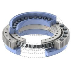RKS crossed cylindrical roller slewing bearings can take combined loads and are interchangeble with RKS four point contact ball slewing bearings. Industrial Robotic Arm, Industrial Robots, Industrial Machinery, Mechanical Engineering Design, Mechanical Design, Cnc, Crane Construction, Clever Inventions, Pattern Sketch