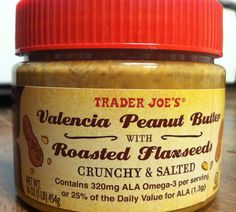 What's Good at Trader Joe's?: Trader Joe's Valencia Peanut Butter with Roasted Flaxseeds