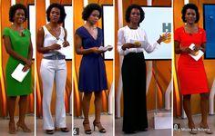 moda do programa Hora 1, looks da Maria Julia Coutinho dias 19 a 23 de janeiro de 2015