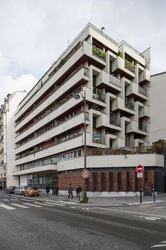 Paris 17e, 166, rue Cardinet : immeuble de logements (Roger Anger, Mario Heymann, Pierre Puccinelli, 1960)