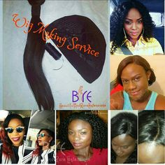 Send us your own hair extensions or purchase them from us and turn them into a beautifully crafted natural looking wig made just for you!