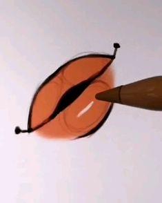 Easy lips drawing tutorial – Alicjanai – Make Up Digital Painting Tutorials, Digital Art Tutorial, Art Tutorials, Digital Paintings, Face Drawing Tutorials, Concept Art Tutorial, Illustrator Tutorials, Art Drawings Sketches Simple, Pencil Art Drawings