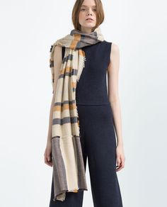 Image 2 of 100% STRIPED COTTON SCARF from Zara