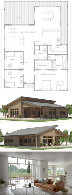 House Design, Home Plans, House Plans, Floor Plans Dream House Plans, Modern House Plans, Small House Plans, House Floor Plans, Bungalow Floor Plans, Future House, My House, Bungalows, House Layouts