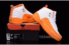 "d28eab7e3fc03f 2016 Air Jordan 12 GS ""The Glove"" White Orange For Sale The Air Jordan · Cheap  Jordan ShoesJordan ..."