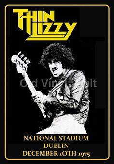 Thin Lizzy Repro Concert Poster National Stadium Dublin 1975 | eBay