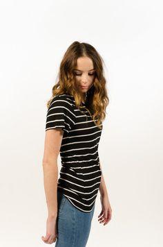 Basic Stripe Tee - Black/White - BAAM Labs - 2
