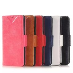 Flip PU Leather Stand Protective Case For Samsung Galaxy Alpha G8508S