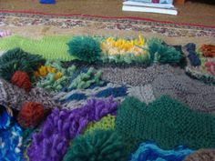 My knitted farm mat - more