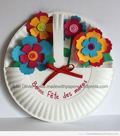 Paper plate flower basket flower basket craft and paper plate crafts mightylinksfo