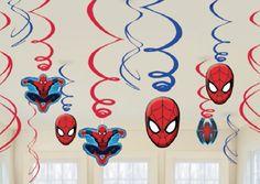 Spiderman Swirl Decorations