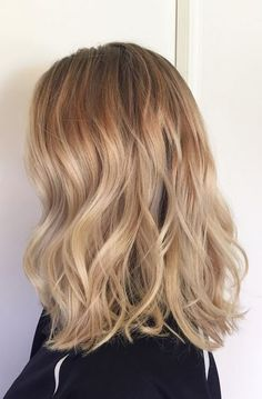 natural beige blonde highlights