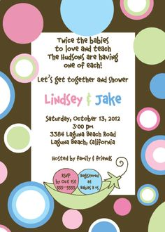The 113 best twins boy and girl baby shower images on pinterest twins baby shower invitation how adorable go to likegossip twin boy and girl filmwisefo