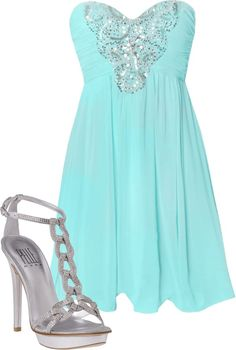 Minty Date Night, created by abijones19 on Polyvore