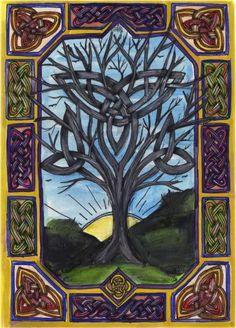 """Druids Trees:  """"Celtic #Tree,"""" Carolyn Naegeli Slead."""