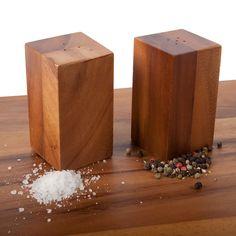 beautiful block salt and pepper shakers