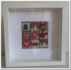 2 CHristmas Patchwork Box Frame a