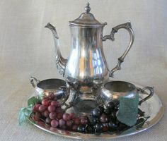 Amazing Silverplate Coffee Tea Service Set   4 by ZuziDesign